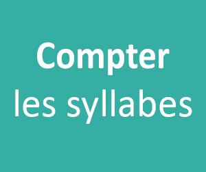 Compter les syllabes au CP et en GS