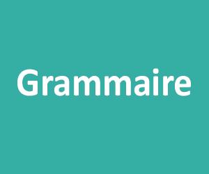 Grammaire CM1 - CM2