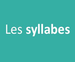Les syllabes GS - CP - CE1 - CE2