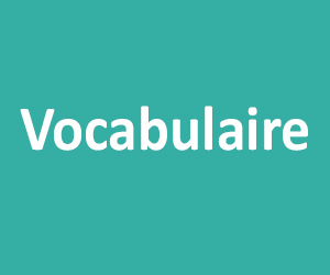 Vocabulaire CE1 - CE2