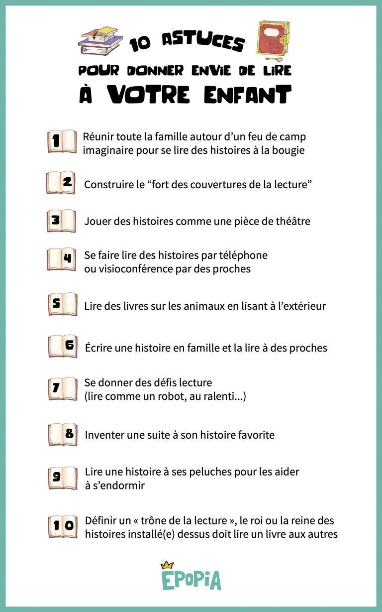 10 astuces pour donner envie de lire à votre enfant