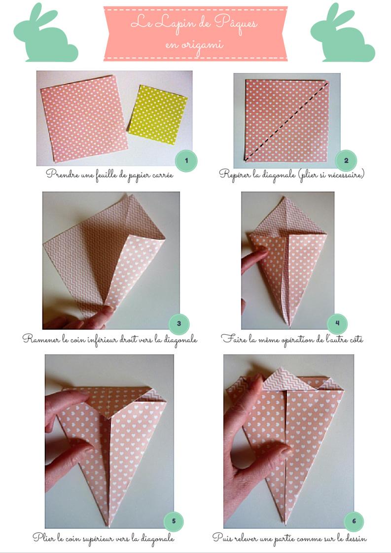 Lapin en origami facile
