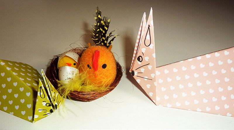 Lapin en origami pour Pâques