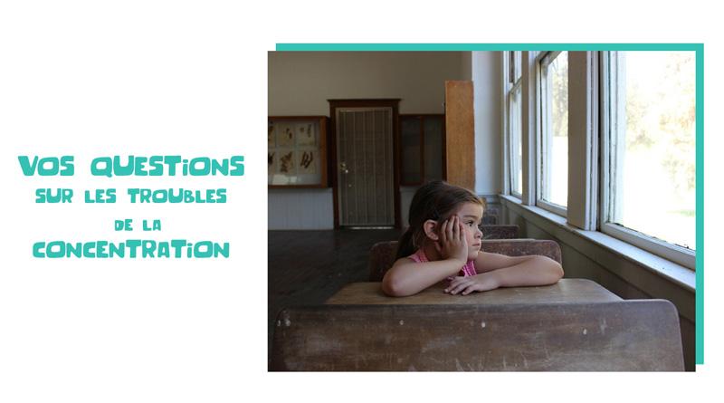 Manque de concentration chez l'enfant