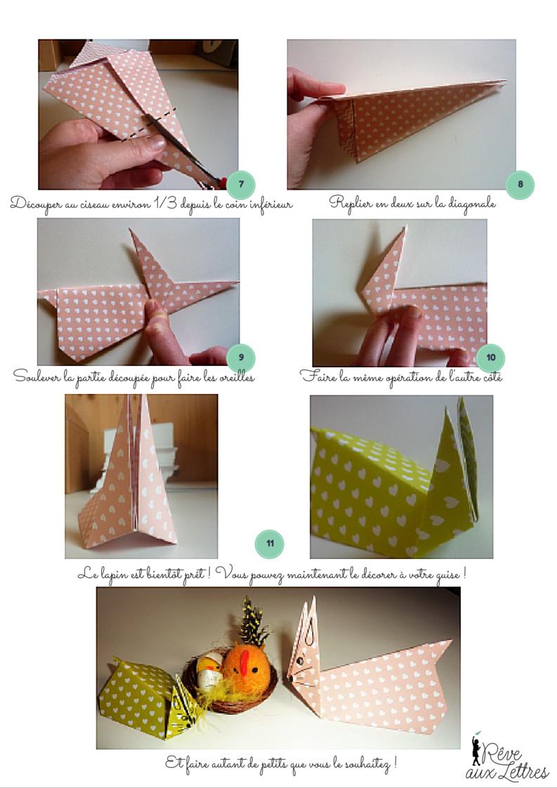 Origami de Pâques facile