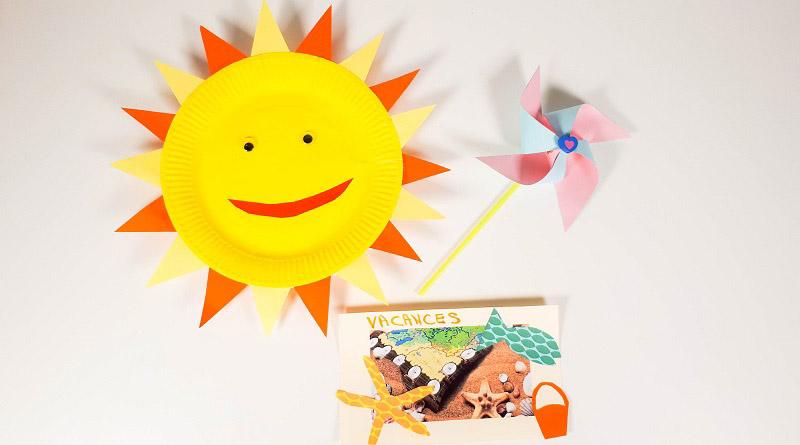 Activité manuelle fabriquer un soleil avec une assiette en carton