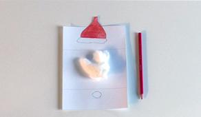 Carte de voeux de Noël CE2