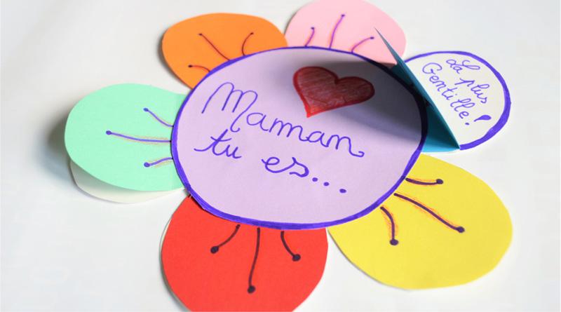 Carte fête des mères CP - CE1 - CE2