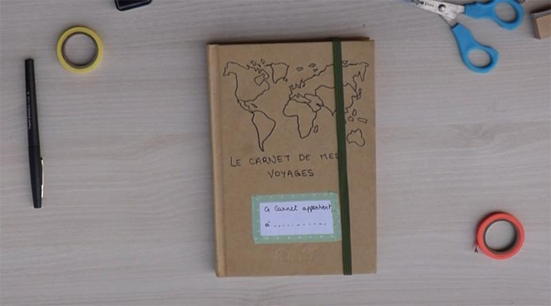 Fabriquer un carnet de voyage pour enfant