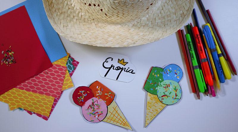 Fabriquez des cartes d'invitation avec des bâtonnets de glace