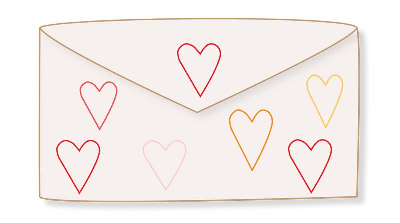 Fabriquer un tampon en forme de coeur avec un rouleau de papier toilette