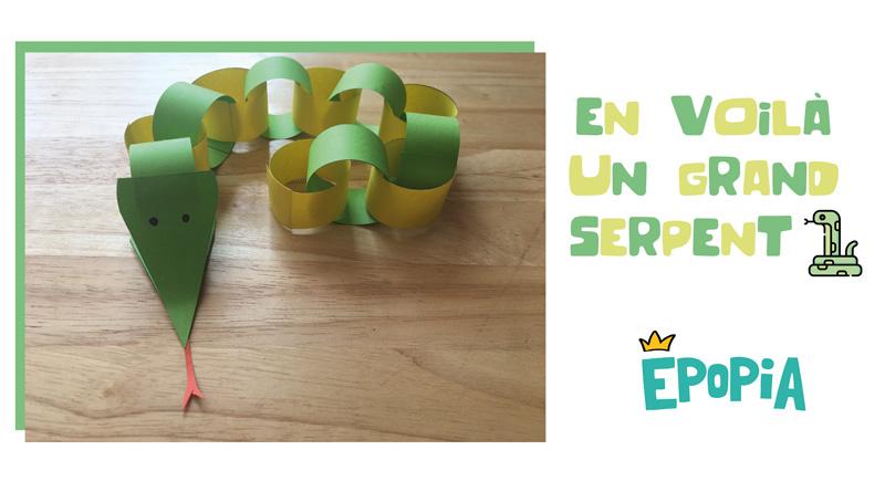 Fabriquer un serpent en papier : bricolage & activité manuelle