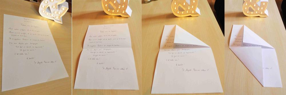 Faire une enveloppe avec une feuille A4
