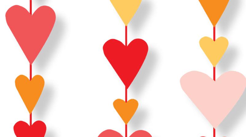 Des guirlandes coeur pour la Saint-Valentin