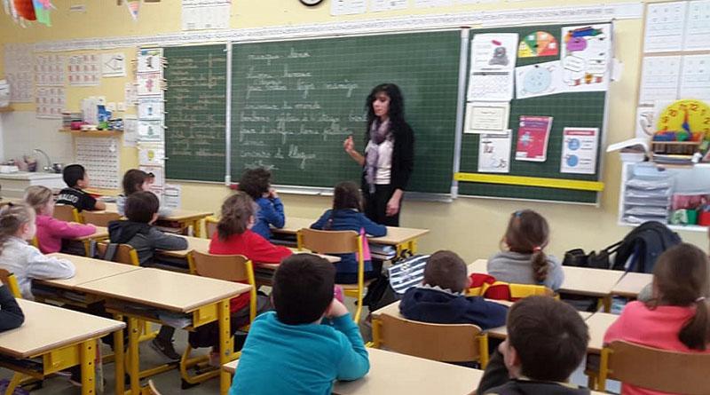 Intervention Betty dans une classe de Salon de Provence
