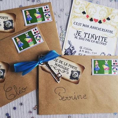 Invitation anniversaire par courrier