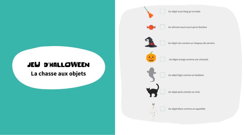Jeu d'halloween : la chasse aux objets