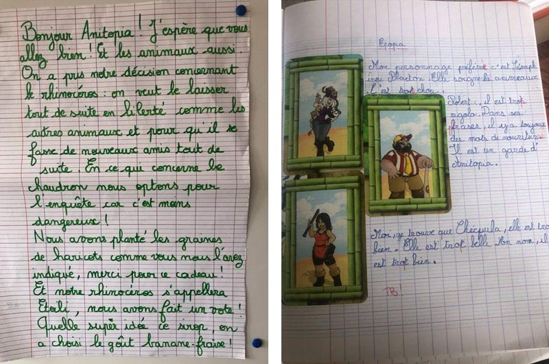 Lettres élèves Epopia CE1
